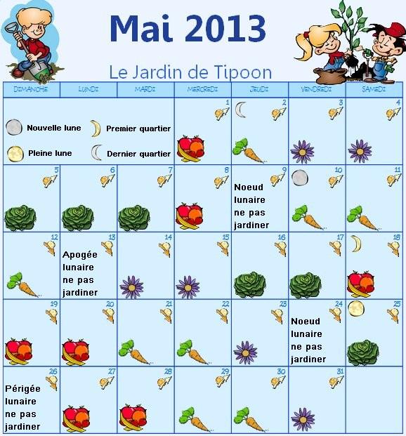 calendrier lunaire du mois de mai