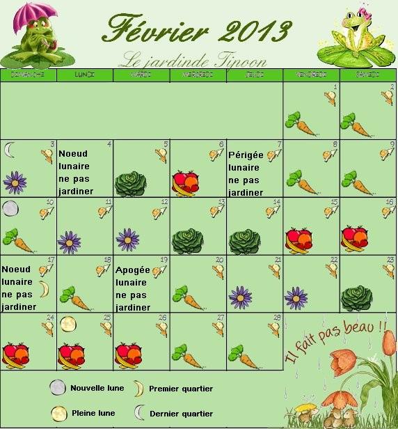 Le calendrier lunaire du mois de fevrier 2013 - Calendrier lunaire du jardinier ...